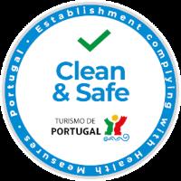 Clean and safe logo - Plano de contingência Covid-19
